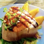 Grilled Tuna with Soy-Wasabi Glaze