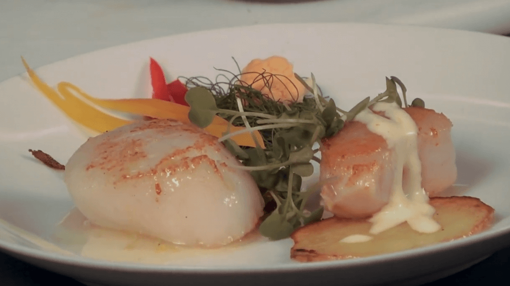 Chris Logan prepares scallops two ways
