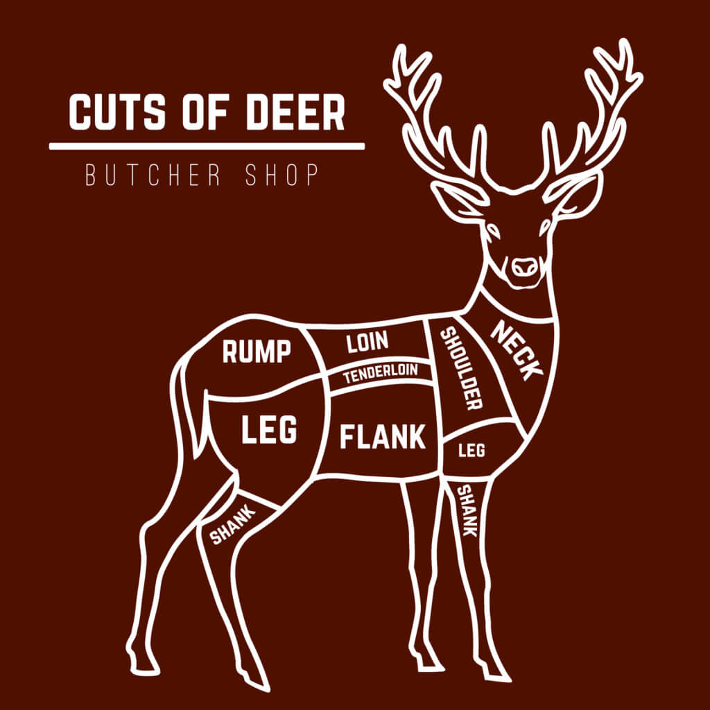 cuts of venison deer