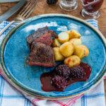 venison with blackberry sauce